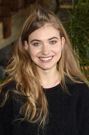 Imogen Poots wore her hair loose with tousled waves when she attended Glamour's Women Rewriting Hollywood lunch.