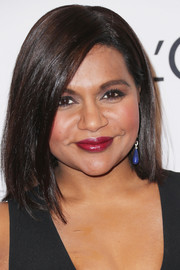 Mindy Kaling caught our eyes with her bold lip color.
