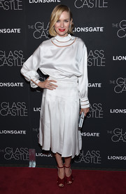 Naomi Watts went for a simple yet elegant white silk blouse by Fendi when she attended the New York screening of 'The Glass Castle.'