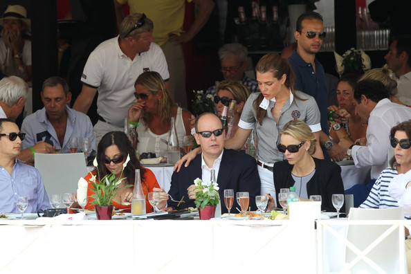More Pics of Charlotte Casiraghi Skinny Belt (2 of 26) - Belts Lookbook - StyleBistro [event,table,lunch,crowd,audience,meal,competition,meeting,management,team,albert ii,caroline of hanover,charlotte casiraghi,charlene wittstock,l-r,global champion tour,monte carlo,monaco]