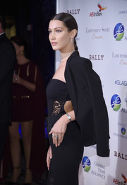 Bella Hadid wore an elegant silver watch at the United for a Lyme-Free World Gala.