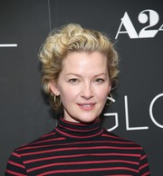 Gretchen Mol attended the New York screening of 'Gloria Bell' wearing a short curly 'do.