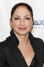Gloria Estefan arrived at the SiriusXM Studio in a pair of classic sterling hoop earrings.