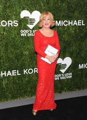 Bette Midler sparkled in a red sequined gown by Michael Kors at the Golden Heart Awards.