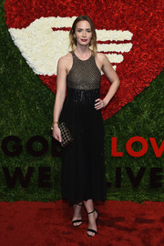 Emily Blunt chose a Michael Kors sequined dress with a honeycomb bodice for her God's Love We Deliver, Golden Heart Awards look.