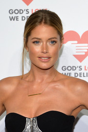 Doutzen Kroes was fresh-faced at the Golden Heart Awards with this youthful ponytail.