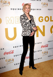 Nicole Kidman looked smart in a python blazer by Altuzarra at the Gold Meets Golden event.
