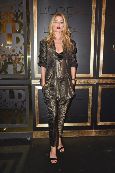 Doutzen Kroes at the L'Oreal Gold Obsession Party