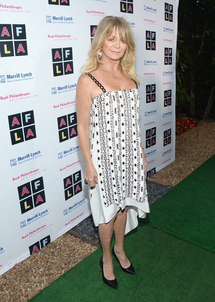 Goldie Hawn Print Dress