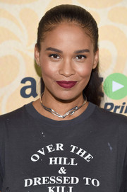Joy Bryant kept it youthful and pretty with this slicked-back ponytail at the New York screening of 'Good Girls Revolt.'