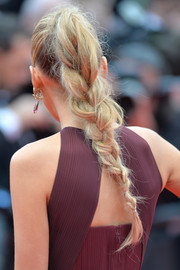 Blake Lively rocked a messy braid at the 'Grace of Monaco' premiere.