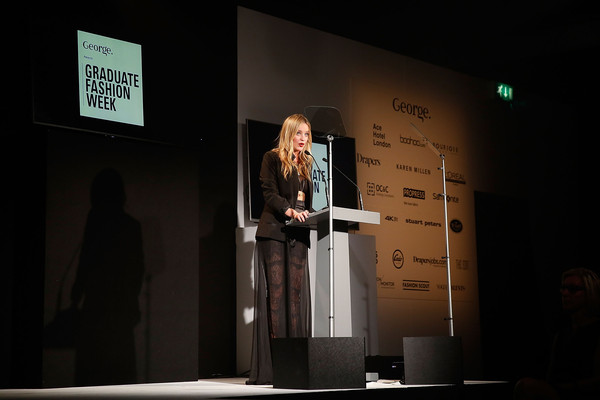 More Pics of Laura Whitmore Statement Ring (1 of 29) - Laura Whitmore Lookbook - StyleBistro [text,design,event,room,performance,presentation,stage,graduate fashion week,laura whitmore,george gold award,england,london,the old truman brewery,show]
