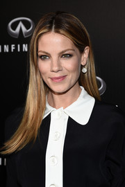 Michelle Monaghan polished off her look with a pair of dangling diamond earrings by Melinda Maria.