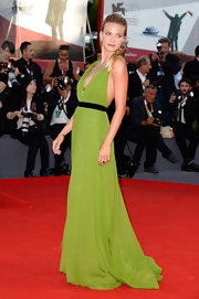 Fiammetta Cicogna's green draped gown made the star look simply goddess like on the red carpet.