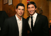 Figure skater Evan Lysacek wore his hair in a classic side-part.