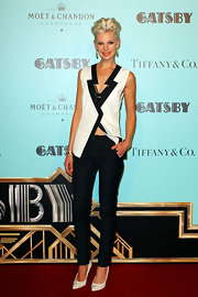 Kate Peck's black skinny pants topped off her a totally chic and stylish look at the red carpet of 'The Great Gatsby.'