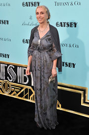 Franca Sozzani chose a cool bohemian-styled dress for her evening look.