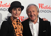 Erin O'Connor complemented her launch party look with a black bowler hat.