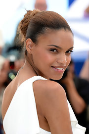 Anais Monory kept her beauty look at Cannes clean and simple with a dewy lip gloss.
