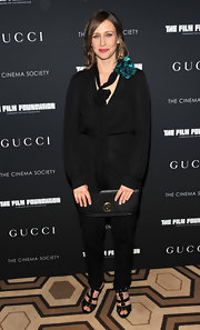 Vera donned a black harem style jumpsuit for the Gucci screening of 'La Dolce Vita.'