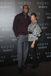 Savannah looked stylish at the Gucci cocktail party in a pair of suede ankle boots.