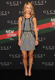 "Claire paired her fabulous Gucci dress with a killer pair of  ""Tribute"" pumps."