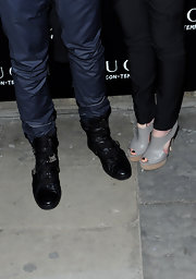 Jamie Campbell Bower's black combat boots looked tough and stylish at the same time.