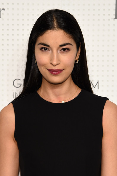 Caroline Issa looked simply elegant with her long straight cut at the Guggenheim International Gala pre-party.