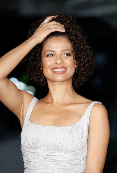 Gugu Mbatha-Raw Statement Ring [hair,hairstyle,beauty,lady,eyebrow,lip,fashion,chin,dress,smile,gugu mbatha-raw,screening,united kingdom,odeon leicester square,london,england,opening night gala,bfi london film festival]