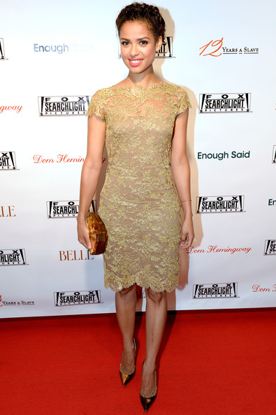Gugu Mbatha-Raw Cocktail Dress [dress,clothing,cocktail dress,fashion model,red carpet,shoulder,hairstyle,carpet,fashion,premiere,party - arrivals,gugu mbatha raw,toronto,canada,spice route,fox searchlight,party,fox searchlight tiff,toronto international film festival]