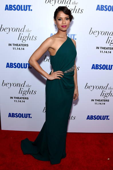 Gugu Mbatha-Raw One Shoulder Dress [beyond the lights,the new york premiere of relativity media,dress,clothing,shoulder,cobalt blue,fashion,hairstyle,carpet,red carpet,gown,cocktail dress,gugu mbatha-raw,regal union square stadium,new york city,new york premiere of relativity media]