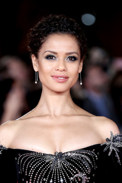 Gugu Mbatha-Raw Smoky Eyes [motherless brooklyn,hair,face,fashion model,eyebrow,lip,skin,beauty,hairstyle,fashion,shoulder,gugu mbatha-raw,red carpet,rome,italy,red carpet,rome film fest 2019,rome film festival]