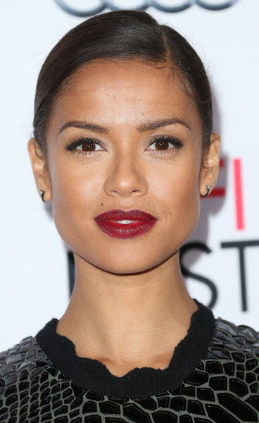 Gugu Mbatha-Raw Classic Bun [eyebrow,beauty,lip,chin,hairstyle,fashion model,cheek,forehead,eyelash,long hair,arrivals,celebs,gugu mbatha-raw,columbia pictures concussion,concussion,tcl chinese theatre,california,hollywood,columbia pictures,centerpiece gala premiere]