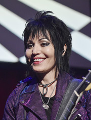 Joan Jett performed at the Little Kids Rock benefit wearing an edgy razor cut.