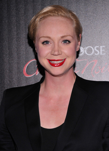 Gwendoline Christie Short Side Part [gato negro films and the cinema society host a screening of ``hotel noir,hotel noir,hair,face,lip,hairstyle,eyebrow,beauty,blond,chin,smile,cheek,arrivals,gwendoline christie,screening,crosby street hotel,new york city,gato negro films the cinema society]