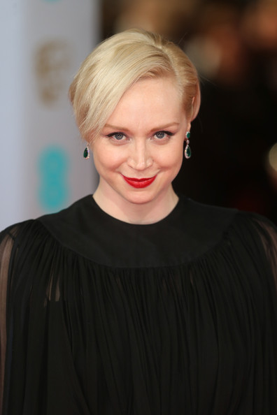 Gwendoline Christie Short Side Part [hair,face,blond,hairstyle,lip,eyebrow,beauty,chin,shoulder,forehead,gwendoline christie,british academy film awards,ee,england,london,the royal opera house,red carpet arrivals]