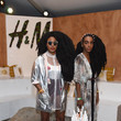 TK Wonder and Cipriana Quann at H&M Loves Coachella Tent