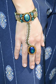 Sophia Bush chose a jeweled statement ring and bracelet combo for her hippie-inspired look at Coachella.