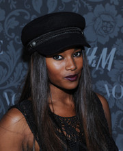 Damaris Lewis attended the H&M and Vogue Studios Between the Shows party looking cool in her black newsboy cap.