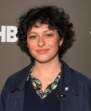 Alia Shawkat looked adorable with her short curly 'do at the '2 Dope Queens' slumber party premiere.