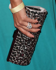 Eva la Rue went all out with the sparklies during the 2013 Golden Globes after-party. Just check out this crystal-encrusted clutch!