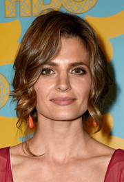 Stana Katic pulled her hair up into a very loose, very romantic updo for the HBO Golden Globes party.