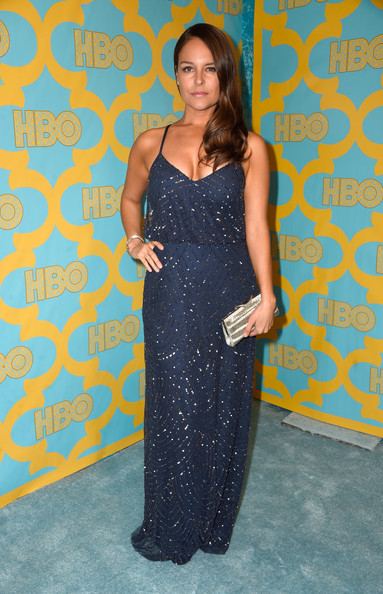 Yara Martinez's beaded navy gown at the HBO Golden Globes party had an easy-breezy yet glamorous feel.