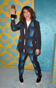 Jill Soloway looked super funky in a patterned pantsuit during the HBO Golden Globes party.
