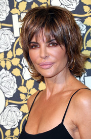 Lisa Rinna made an appearance at the HBO Golden Globes post-party wearing her signature layered razor cut.
