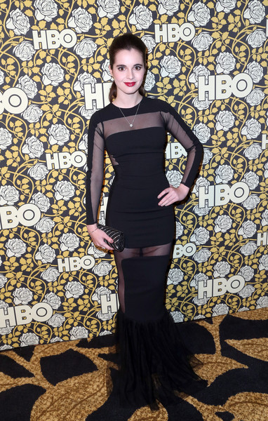 Vanessa Marano rocked an edgy sheer-panel mermaid gown at the HBO Golden Globes post-party.