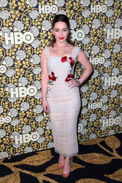 In Dolce & Gabbana At The Golden Globe Awards Party, 2016