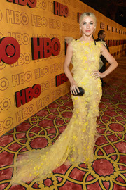 Julianne Hough looked ethereal in a sheer yellow tulle gown by Monique Lhuillier at the HBO post-Emmy reception.