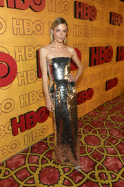 Jaime King radiated in a strapless sequin gown by Oscar de la Renta at the HBO post-Emmy reception.