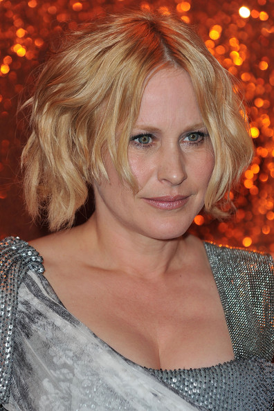 More Pics of Patricia Arquette Short Wavy Cut (1 of 4) - Patricia Arquette Lookbook - StyleBistro [hair,blond,face,hairstyle,layered hair,beauty,hair coloring,chin,eyebrow,long hair,arrivals,patricia arquette,circa 55 restaurant,beverly hills,california,the beverly hilton hotel,hbo,party,post golden globe awards,post golden globe awards party]